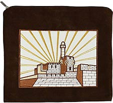 Ultra Suede Tallit Bag - Jerusalem