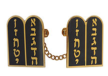 Elegant Tallit Clips - Tablets Black