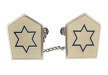 Elegant Tallit Clips - Star of David