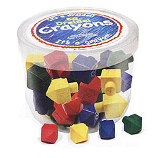 Colorful Dreidel Crayons - Tub of 50