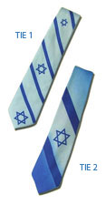 Israeli Flag Neckties