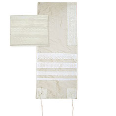 Silk Lace Tallit Set