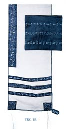Embroidered Organza Tallit Set