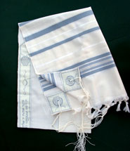Ohr Tzion Tallit set - Light Blue/Silver