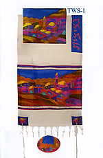 Emanuel Silk & Cotton Tallit Set - Vista in Color