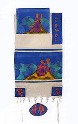 Emanuel Silk & Cotton Tallit Set - Miriam & Deborah