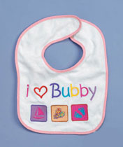 Terry Baby Bib - I Love Bubby