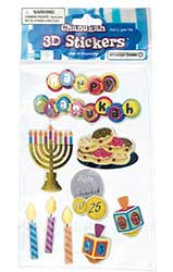 Hanukkah 3-D Stickers