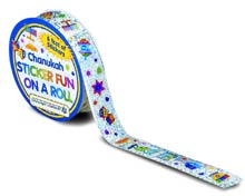 6' Roll of Hanukkah Prismatic Stickers