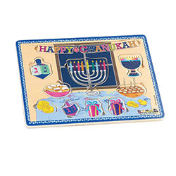 11 Piece Hanukah Wood Puzzle
