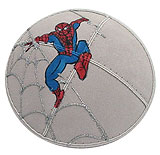 Puff Painted Suede Kippah - Spider Man