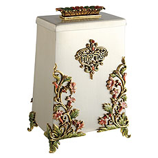 Garden Tzedakah Box - Pink/Green/Gold