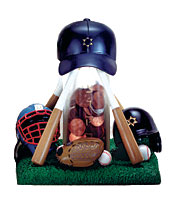 Sculptured Tzedakkah Box - Baseball
