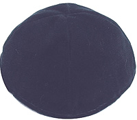 Velvet Lined Kippot - Navy Blue