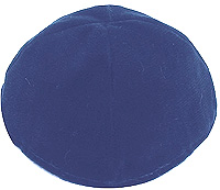 Velvet Lined Kippot - Royal Blue
