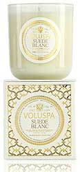 Voluspa ''Suede Blanc'' 12oz. Candle - 100 hours
