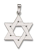 14K White Gold Star Pendant - Large