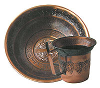 Copper Wash Cup and Optional Basin