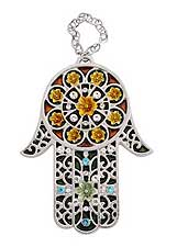 Jeweled Metal Hamsa Wallhanging