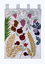 Large Embroidered Judaic Home Decor - 7 Species