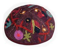 Completely Hand Embroidered Kippah