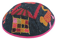 Hand Embroidered Kippot - Tribes