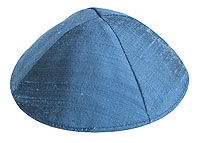 Raw Silk Kippot - Royal Blue