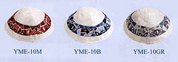 Machine Embroidered Kippah - Geometrical Pieces