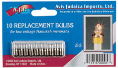 Low Voltage Menorah Replacement Bulbs