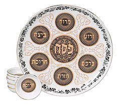 Porcelain Seder Plate - Regal