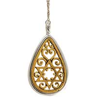 Filigree Star of David Necklace