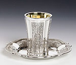 Sterling Silver Kiddush Cups - No Stem