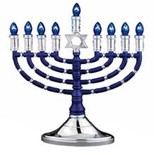 Electric Display Menorahs