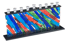 Fused Glass Menorahs