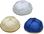 Satin Kippot Solid Colors