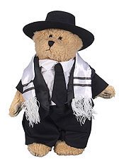 Fuzzy Bar Mitzvah Man Bear