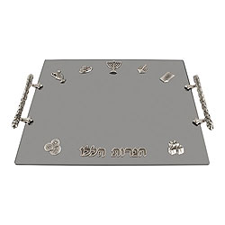 Decorated Hanukkah Tray with Icons
