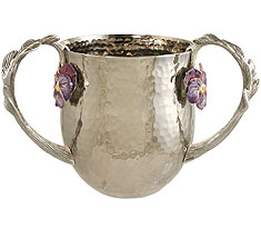 Exquisite Stainless Wash Cups - Pansy