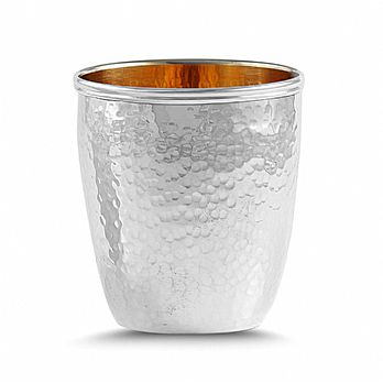 Sterling Silver Kiddush Wine Cup - Petite Hammered