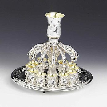 Sterling Silver Kiddush Fountain- Chentruzza