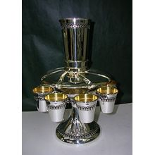 Sterling Silver Kiddush Fountain- Filigree