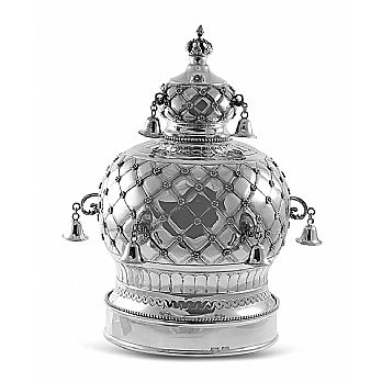 Sterling Silver Torah Crown - Quilted