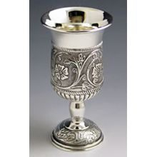 Silver Plated Kiddush Cup with Stem