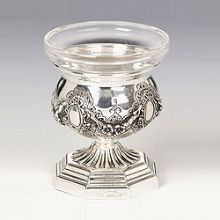 Sterling Silver Salt Dish - Royalty