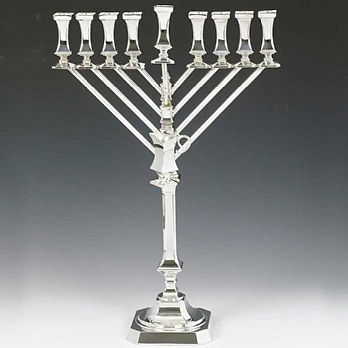Sterling Silver Menorah -  Bagatel Collection