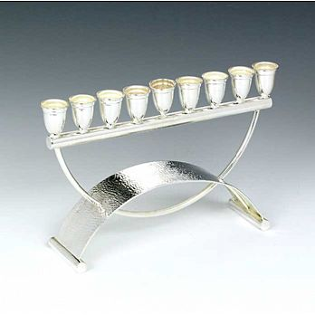 Sterling Silver Menorah -  Keshet Collection