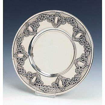 Sterling Silver Kiddush Cup Tray - Malchut