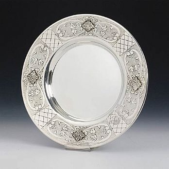 Sterling Silver Kiddush Cup Tray - Grada