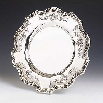 Sterling Silver Kiddush Cup Tray - Kovalt