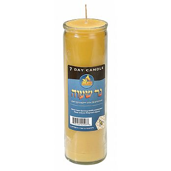 7 Day Pure Beeswax Memorial Candle in Glass